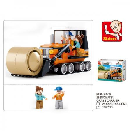 SLUBAN yellow architecture construction vehicle model alloy simulation cement mixer truck toys for children buildings