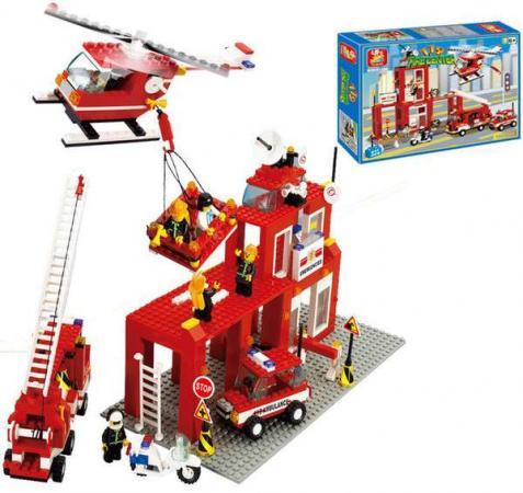 Конструктор SLUBAN Пожарный центр 631 элемент M38-B3100 sluban конструктор железнодорожный вокзал паровоз sluban