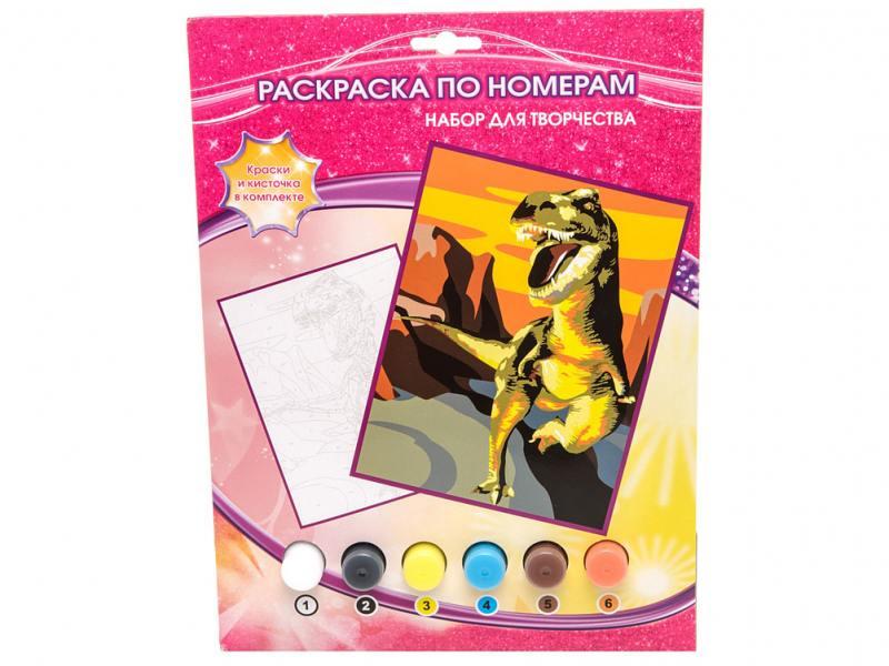 Раскраска по номерам Multiart ДИНОЗАВР 6031PB1 играем вместе раскраска по номерам динозавр