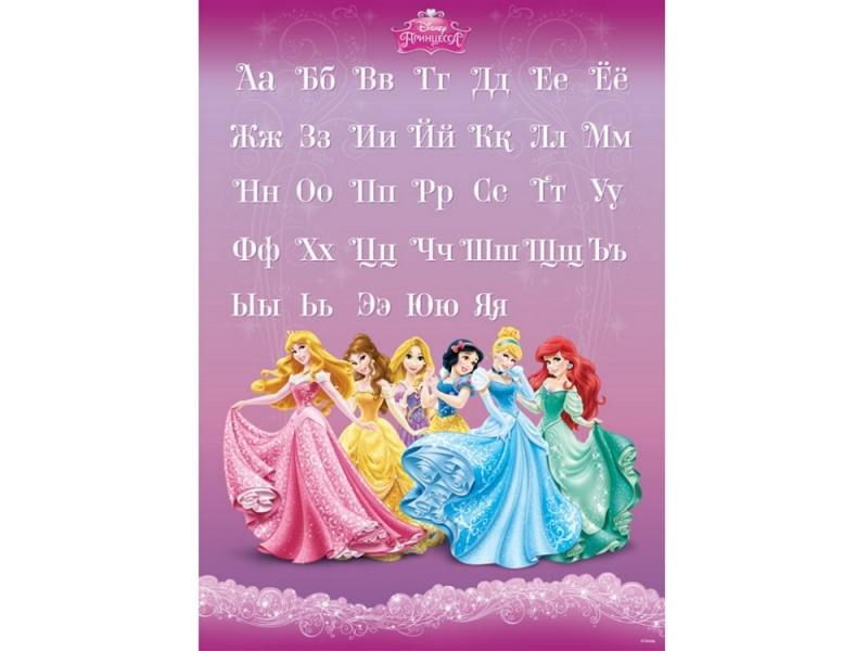Наклейки для стен Decoretto Русский алфавит Принцессы LD 4022 украшение для стен и предметов интерьера decoretto снегири на ветке 11 шт ni 4002