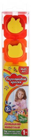 Пальчиковые краски Multi Art Домашние животные 5 цветов 1515-HA molly краски пальчиковые с трафаретом первая картина 5 цветов