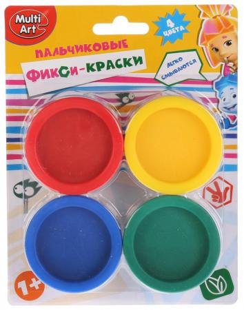 Пальчиковые краски Multi Art Фиксики 4 цвета CM2684-FIX краски пальчиковые baramba 4 цвета b00530