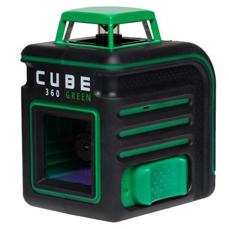Лазерный уровень ADA CUBE 360 Green Ultimate Edition до20м ±3/10мм/м ±4° 535нм зеленый луч IP54 зеленый луч рысс буря