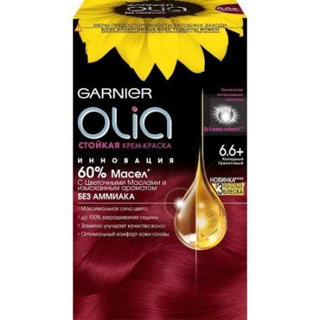 GARNIER Краска для волос Olia 6.66 Холодный гранатовый garnier краска для волос olia 5 9 бронз