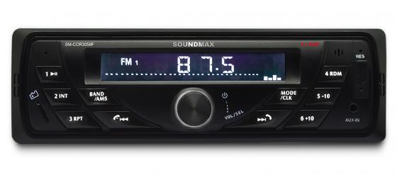 цена на Автомагнитола Soundmax SM-CCR3058F USB MP3 FM SD MMC 1DIN 4x40Вт черный