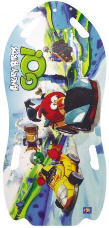 Купить Ледянка 1Toy Angry Birds для двоих до 150 кг ПВХ голубой Т57214, Санки, снегокаты, тюбинги