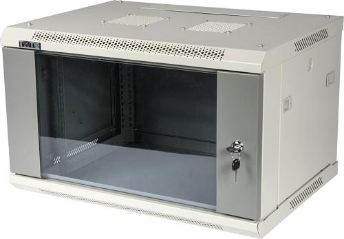 Шкаф настенный 9U Lanmaster TWT-CBWPG-9U-6X6-GY 600x600mm серый 60кг